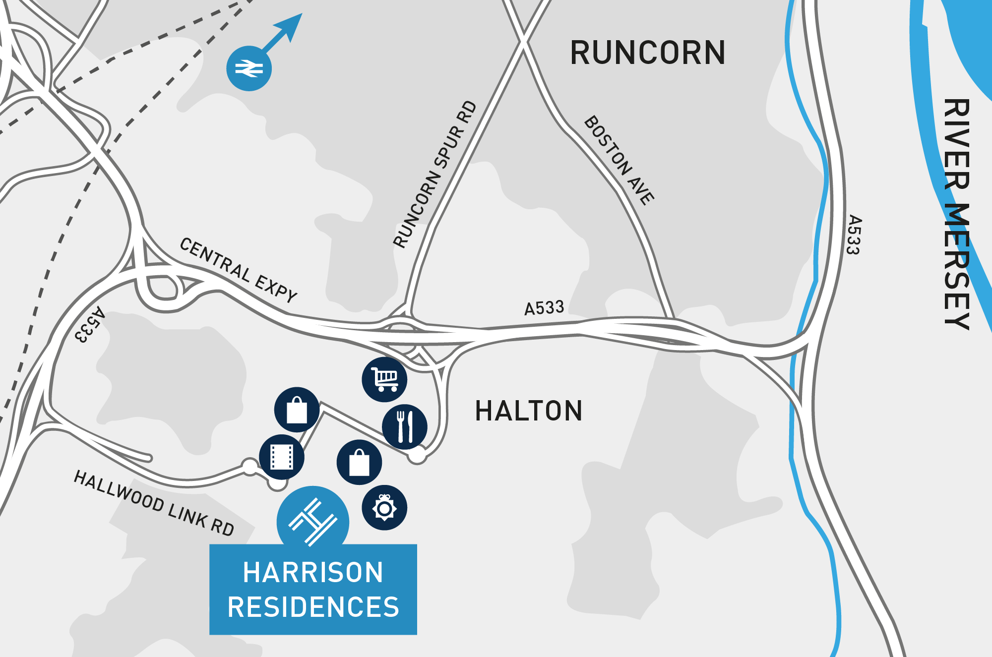 Harrison Residences - Local area map